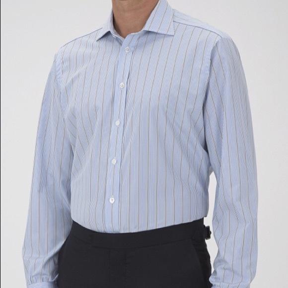 Turnbull & Asser Shirts | Turnbull Asser Blueyellow Striped Dress ...